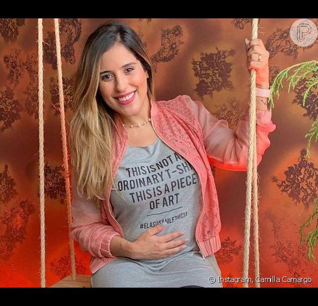 Camilla Camargo mostrou reação do filho, Joaquim, ao ver sua imagem em vídeo