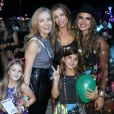 Angélica e Grazi Massafera curtem Rock in Rio com as filhas