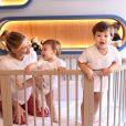 Andressa Suita divide momentos com os filhos Gabriel e Samuel nas redes sociais