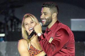 Andressa Suita sobe em palco de show e canta com Gusttavo Lima. Veja vídeo!