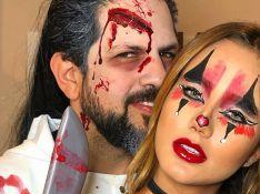 Sertanejo Sorocaba e namorada capricham em make para festa de Halloween. Fotos!