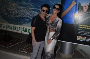 Muito amor! Zezé di Camargo troca beijos e carinhos com Graciele Lacerda no MS