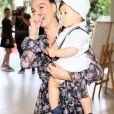 Isis Valverde comemora aniversário de 1 ano do filho, Rael, no salão de festas  Na Moitta, no shopping Espaço  Itanhangá, na Barra da Tijuca, zona oeste do Rio de Janeiro, neste domingo, 24 de novembro de 2019
