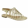 Presente de Natal: sandália rasteirinha em tom dourado é da Ramarim e custa R$ 99,00