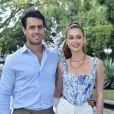 Marina Ruy Barbosa marcou presença na festa de Zoe com o marido, Xandinho Negrão