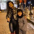 Filho de Mileide Mihaile,  Yhudy  está curtindo o frio europeu ao lado da mãe