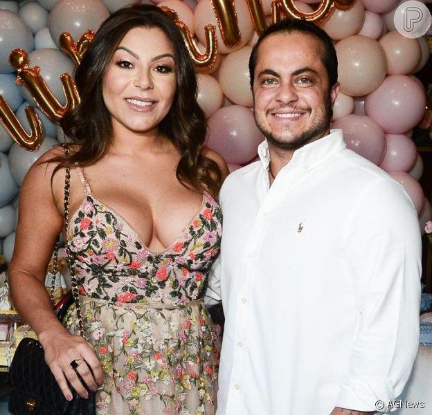 Thammy Miranda festeja nascimento do filho e elogia mulher, Andressa, nesta quarta-feira, dia 08 de janeiro de 2020