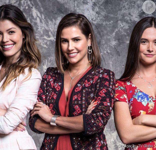 Na novela 'Salve-se Quem Puder', Alexia/Josimara (Deborah Secco), Luna/Fiona (Juliana Paiva) e Kyra/Cleyde (Vitória Strada) adotam novas identidades depois que presenciam um assassinato