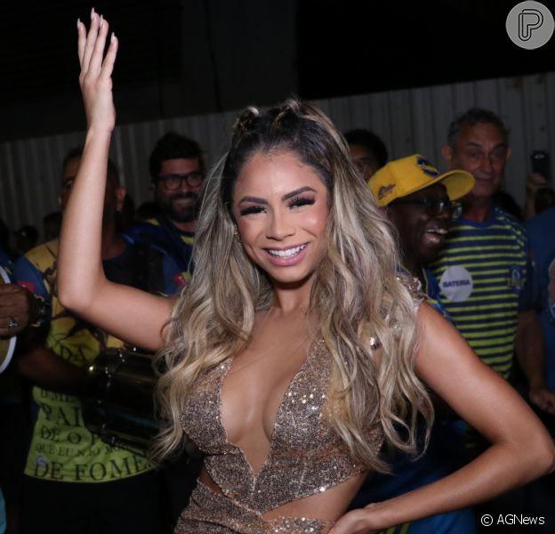 Rainha de bateria, Lexa participou do ensaio da Unidos da Tijuca nesta quinta-feira, 6 de fevereiro de 2020