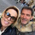 Ana Maria Braga eJohnny Lucet trocaram alianças personalizadas, com nomes dos dois do lado externo da joia