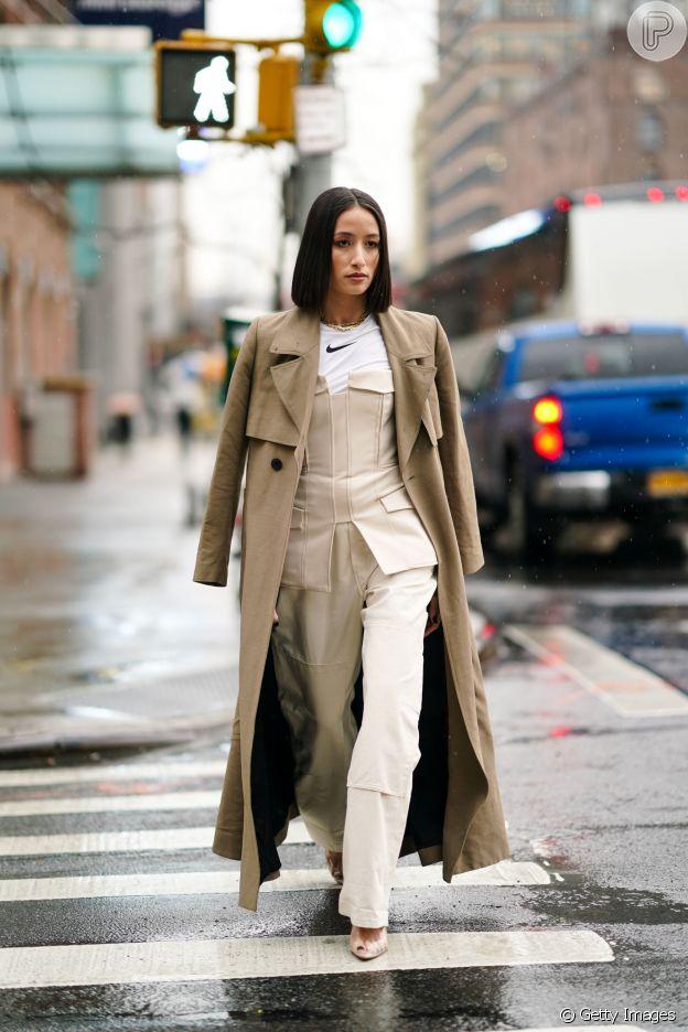 Moda de NY: decote ombro a ombro com inspiração do espartilho é trend no New York Fashion Week