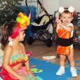 Filha de Sabrina Sato, Zoe apareceu toda animada nas fotos postadas pela mãe