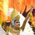 Munik Nunes representou um anjo no desfile da Colorado do Brás