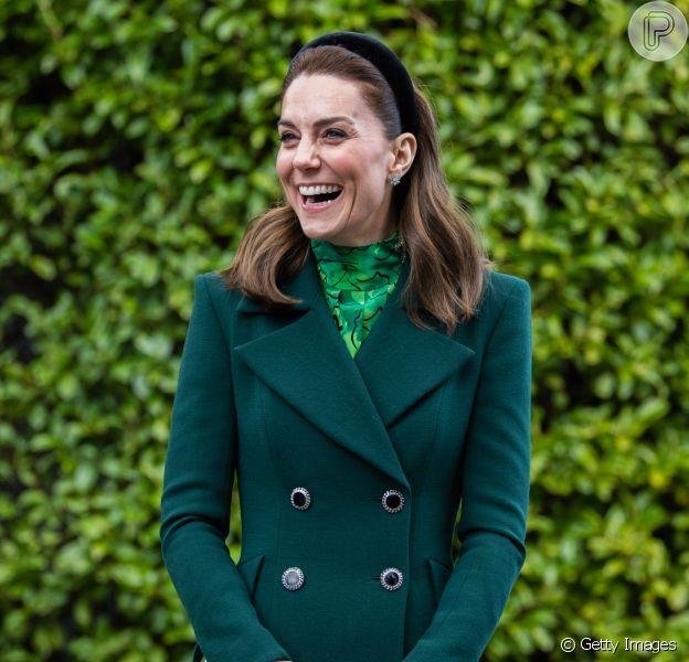 Kate Middleton visitou a Irlanda com o marido, Príncipe William, nesta terça-feira, dia 03 de março de 2020