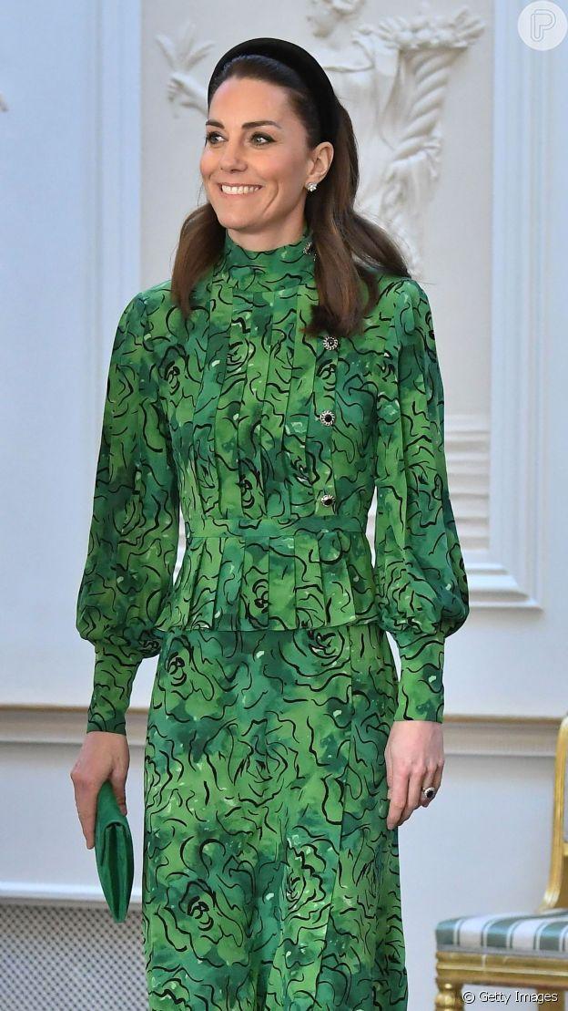 Vestido de Kate Middleton tinha ar romântico e refinado