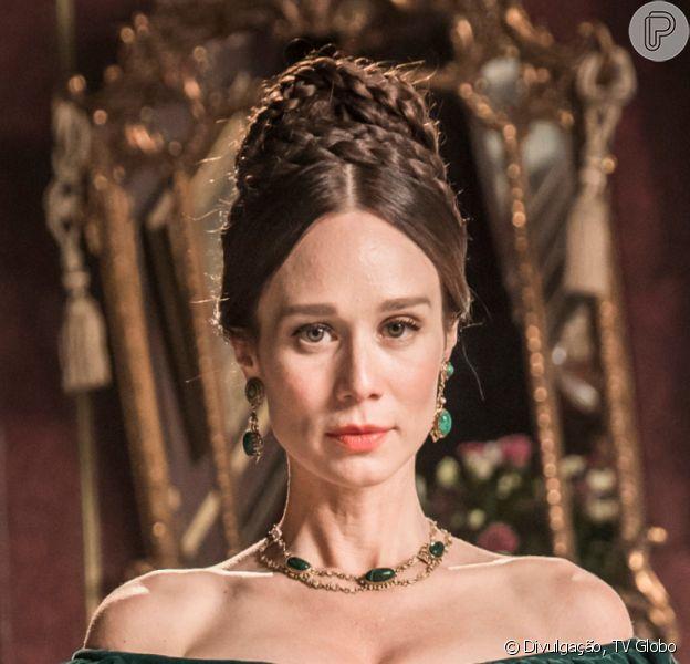 Na novela 'Nos Tempos do Imperador', Luísa (Mariana Ximenes) assume negócios da família após a morte do pai, Dom Domingo