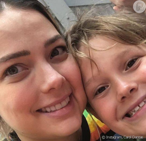 Carol Dantas mostrou treino de Davi Lucca, seu filho com Neymar, em vídeo na web