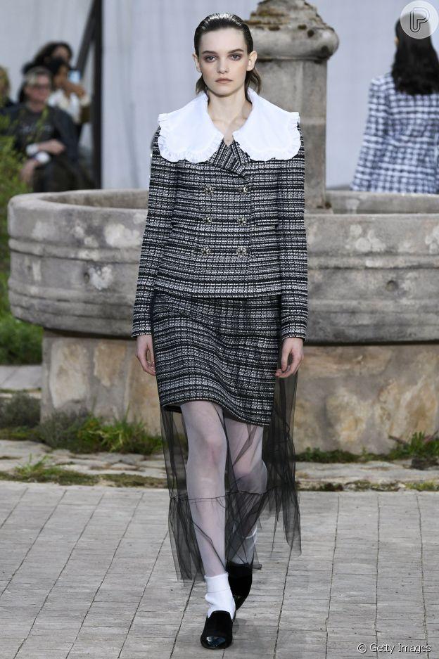 Desfile de alta-costura da Chanel em janeiro de 2020