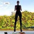Bruna Marquezine surgiu em treino virtual com Chico Salgado