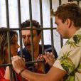 Novela 'As Aventuras de Poliana': Arlete (Letícia Tomazella) e Lindomar (Ivan Parente) são visitados na cadeia pelo filho, Vini (Vincenzo Richy), no capítulo de sexta-feira, 17 de abril de 2020