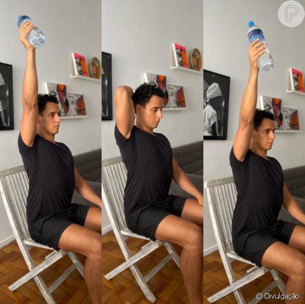 O fisioterapeuta Rodrigo Fernandes ensina a segunda sequência de exercícios