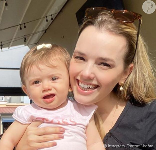 Filha de Thaeme Mariôto, Liz, comemora 1 ano nesta segunda-feira, 20 de abril de 2020