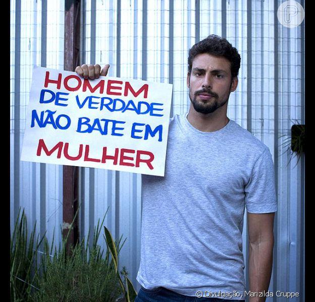 Cauã Reymond posa para campanha de combate à violência contra as mulheres, que será lançada em 1º de março de 2013