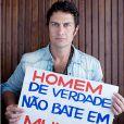 Gabriel Braga Nunes posa para a campanha