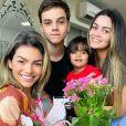 Kelly Key é mãe de Suzanna Freitas, Vitor e Artur e contou como o Dia das Mães ao lado da família: 'Curtimos... Bebemos.... Cozinhamos... Comemos....'