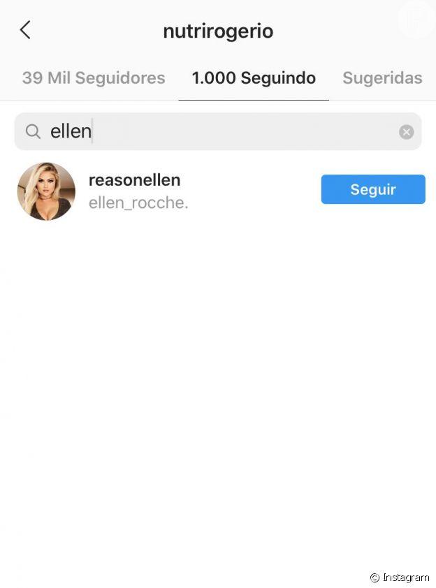 Ellen Rocche leva unfollow de ex-noivo no Instagram