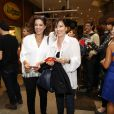 Natália do Vale e Ângela Vieira prestigiaram a estreia da peça 'Amor Perverso'