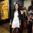 Cláudia Mauro também prestigiou a estreia da peça 'Amor Perverso'