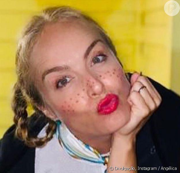 Angélica pinta o rosto e faz tranças para festa junina em casa com Luciano Huck, em 28 de junho de 2020