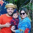 Marília Mendonça organizou arraiá para comemorar os 6 meses do filho, Leo