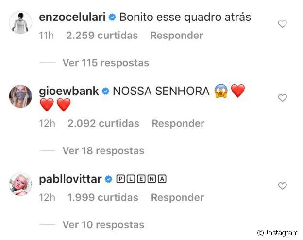 Enzo Celulari reage a fotos sexy de Bruna Marquezine