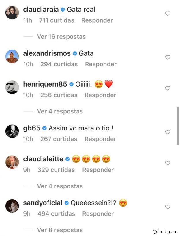 Mãe de Enzo Celulari, Claudia Raia reage a fotos sexy de Bruna Marquezine