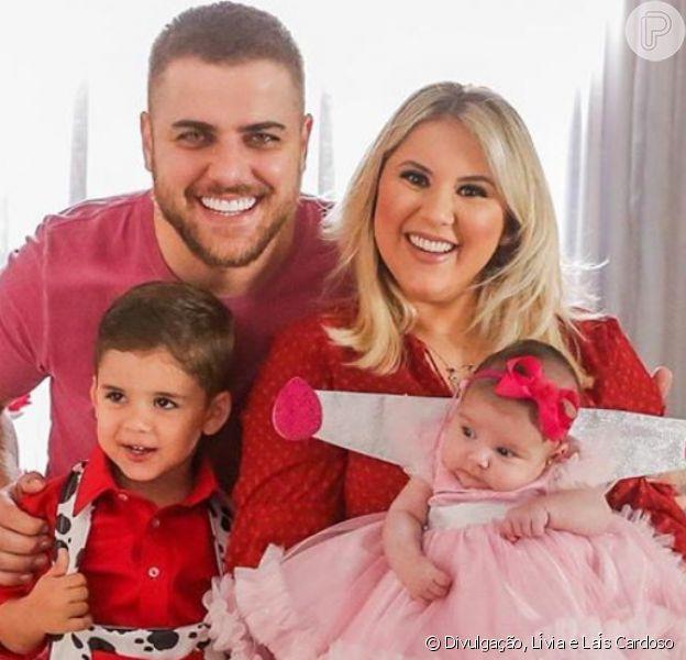 Zé Neto e a mulher, Natália Toscano, fazem festa nos três anos de José Filho, em 19 de julho de 2020