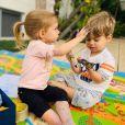 Filho mais novo de Thais Fersoza e Michel Teló, Teodoro comemorou o aniversário de 3 anos em casa