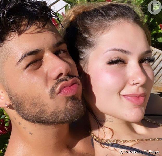 Zé Felipe e Virginia Fonseca comemoram aniversário de namoro