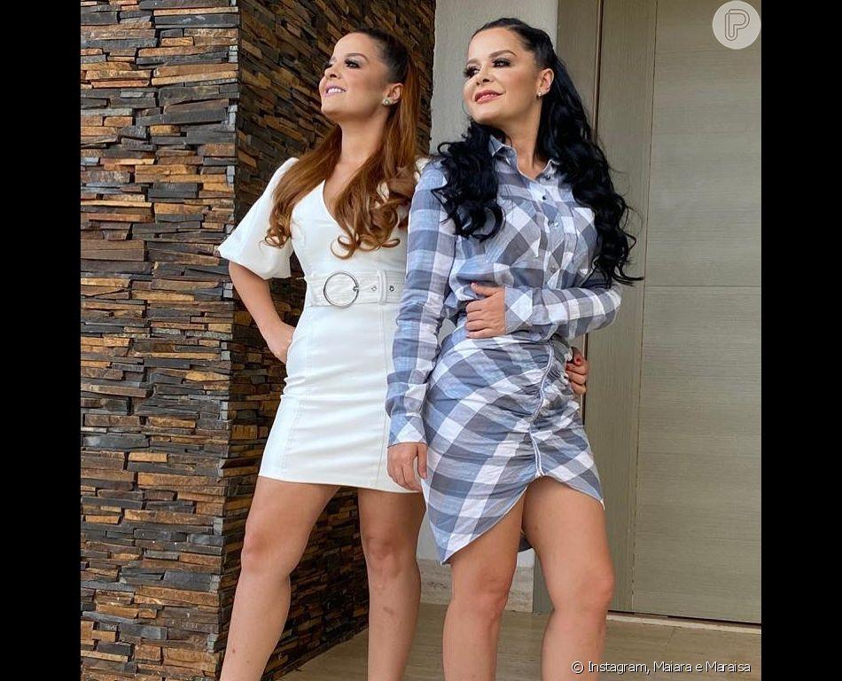 Maraisa e a irmã, Maiara, roubaram a cena na web com biquínis poderosos