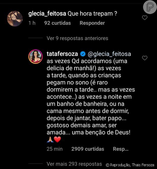 Thais Fersoza detalha relação com Michel Teló após pergunta de fã
