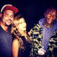 Ronaldo posa com o rapper Wiz Khalifa e com a noiva, Paula Morais, em 5 de novembro de 2014