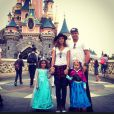 Ronaldo e Paula Morais levaram as filhas do ex-jogador para a EuroDisney