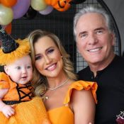 Roberto Justus e Ana Paula Siebert fazem festa de Halloween para filha: 'Bruxinha'