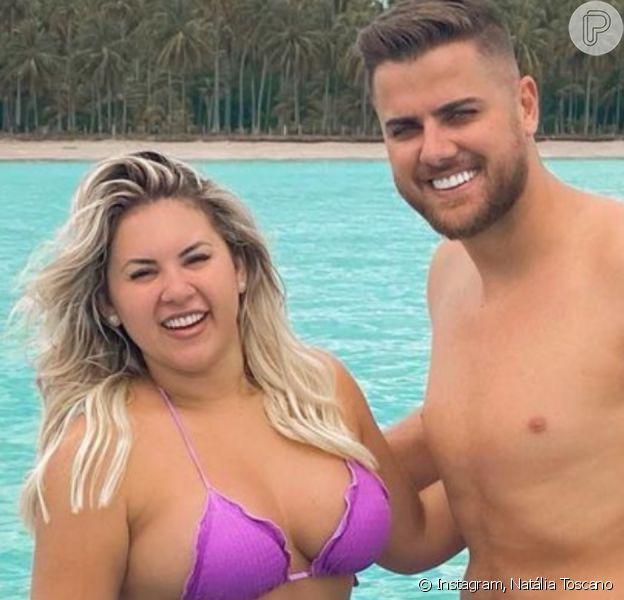 Zé Neto viraliza em foto com a mulher, Natália Toscano