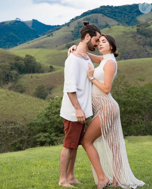 Grávida de 7 meses, Romana Novais faz ensaio com Alok