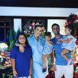 Ivete Sangalo mostrou que estavam todos com os olhos fixos na TV para ver o 'Domingão do Faustão'