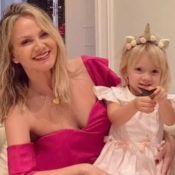 Eliana mostra filha em momento de ternura e web nota: 'Manu tá enorme'