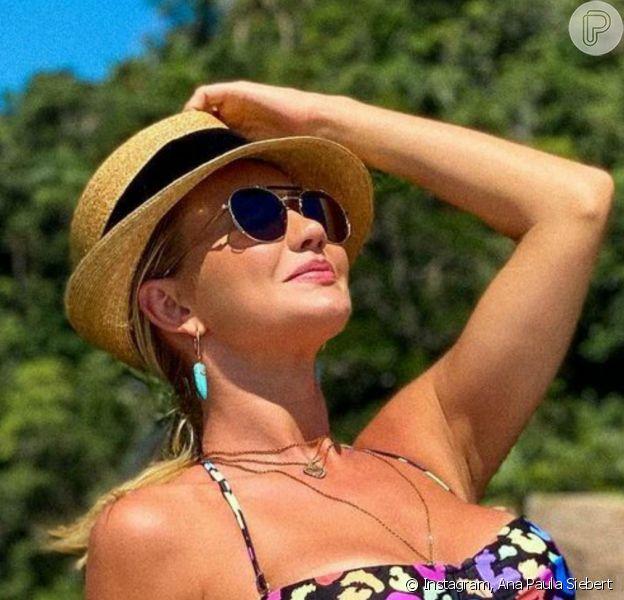 Ana Paula Siebert reagiu à acusação de ter editado barriga em foto de biquíni