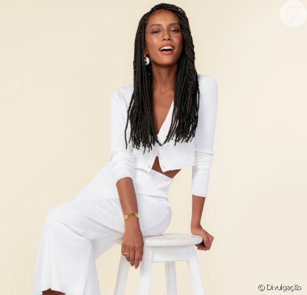 Taís Araújo foi clicada para a campanha de inverno da marca Studio Z, de sapatos e acessórios